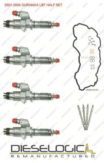 2001 04 CHEVY/GMC DURAMAX LB7 6.6L DIESEL INJECTOR SUPER HALF SET 6.6