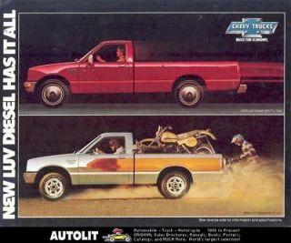 1981 Chevrolet LUV Diesel Pickup Truck Brochure