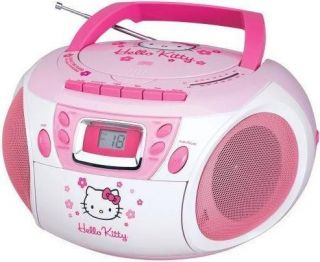 New Hello kitty boombox Portable Stereo AM/FM/CD/Casse​tte player