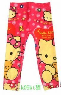 New Cute Hello Kitty Girls Clothing Kids Pants