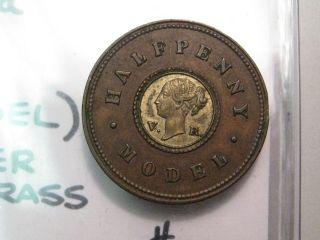 1844 ND Half Penny. Great Britain. High grade. Victoria.