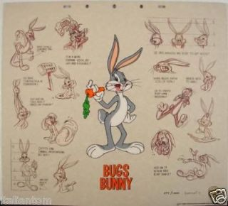 RARE BUGS BUNNY CEL SERICEL LUMICEL CELL LOONEY TUNES ANIMATION ART