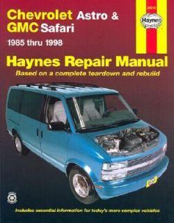 Chevrolet Astro and GMC Safari Mini Vans, 1985 1998 by J. H. Haynes