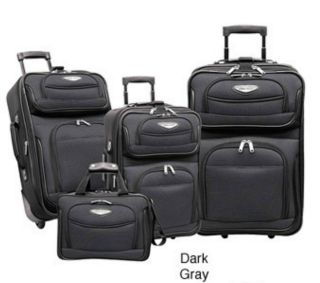 Travelers Choice Amsterdam 4 piece Luggage Set Gray