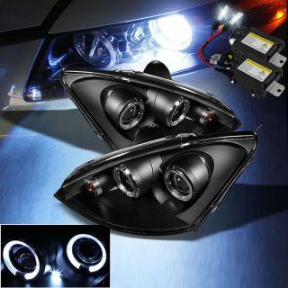 Focus Halo LED Projector Headlights Head Lights Set (Fits Ford Focus