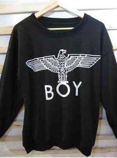 Unisex black sport boy london eagle sweater coat fashion bigbang