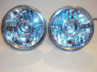 Xenon Headlights with Amber Turn Signal Hot Rod Rat Rod Streetrod