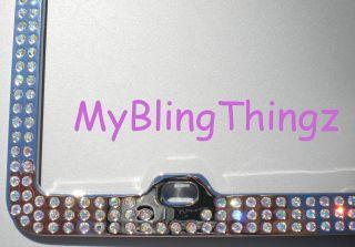 Embedded AB Crystal BLING Rhinestone License Plate Frame w/ Swarovski