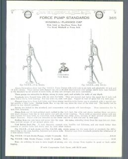 1928 ad Force Water Pump Standards Windmill Hand