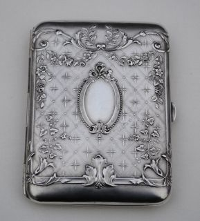 ANTIQUE FRENCH STERLING SILVER CIGARETTE CASE LOUIS XVI