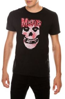 Mens MISFITS Logo Bloody Crimson Ghost Skull Black Red T Shirt L PUNK