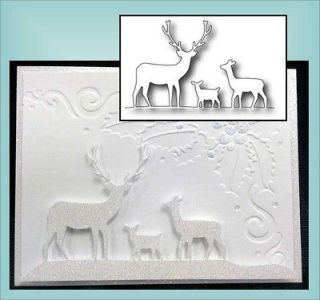Deer Trio Thin Metal Die By Memory Box For All Universal Machine