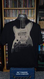 Kurt Cobain Nirvana Fender jagstang guitar shirt XL