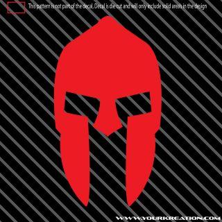 2X) 300 Spartan Helmet Die Cut Decal Sticker Leonidas sparta