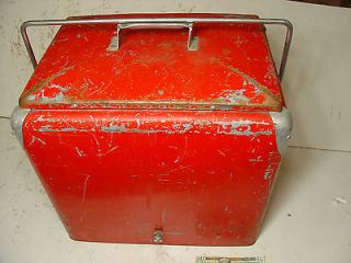 Vintage Coca Cola Metal Cooler Antique Soda Pop Ice Chest Box