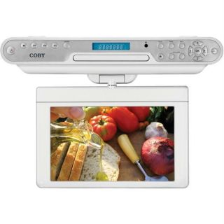 Coby 7 TFT LCD Under Cabinet DVD CD Player With Digital TV And AM FM