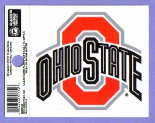 State Buckeyes NCAA Static Cling / Window Cling Decal *