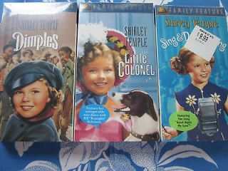 VHS (3) NEW sealed The Little Colonel DIMPLES Sing & Dance Along