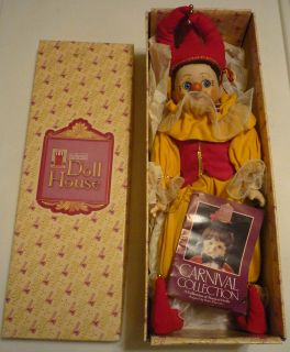 1985 Schmid Doll House 17 COURT JESTER w/box Carnival Collection