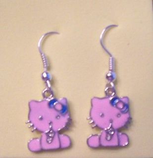 Earrings / Charm / Pendant * HELLO KITTY * Pink