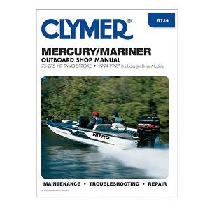 Clymer Mariner Repair Manual 75 275 HP Two Stroke Outboards & Jet