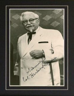 Colonel Sanders KFC Kentucky Fried Chicken Autograph