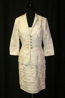 155149 Jovani Suit Cocktail Mother of the Bride Pageant Interview Sz 6