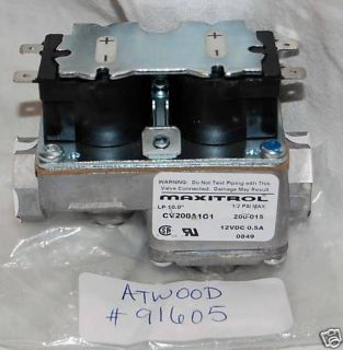 Atwood Water Heater Gas Valve for DSI Part #91605