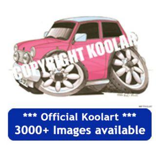 Koolart Mini pink Fridge Magnet personalised gift present 2227