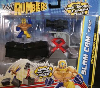 REY MYSTERIO W/ SLAM CAM PLAYSET   WWE RUMBLERS TOY WRESTLING ACTION