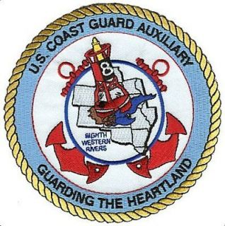 Auxiliary Eighth Western Rivers W4713 Coast Guard patch