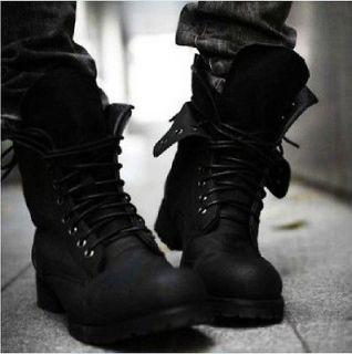Retro Punk Combat Winter Mens boots England style Casual shoes SZ US