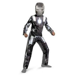 Childs Boy Colonel Rhodes Silver IRON MAN WAR MACHINE Costume + Mask