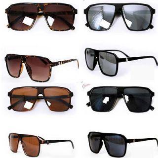 Fashion Retro Big Frame Glasses Sunglasses Cool Mercury Reflective