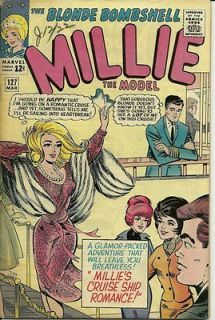 March 1965 Comic Book Millie the Model v1 n127 Millies Cruise Ship