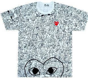 comme des garcons play in T Shirts