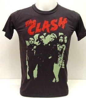 THE CLASH 80s UK Concert Vintage Punk Rock T Shirt L