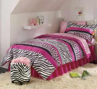 zebra print bed sets