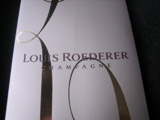 Louis Roederer Cristal Champagne Gift Bag For a single bottle new rare