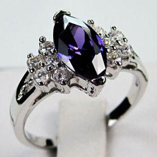 purple gold ring in Fashion Jewelry