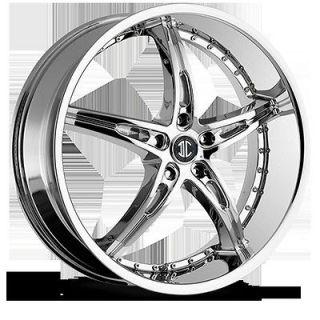 20 Inch 5x115 Chrome 2 Crave No.14 Wheels Rims 5 Lug Dodge Magnum