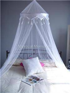 WHITE CROWN Mosquito Net Bed Canopy  Cot/SBED/DBED