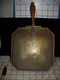 Silent Butler Ash Tray Crumb Catcher Tray Wood Handle Claw Feet
