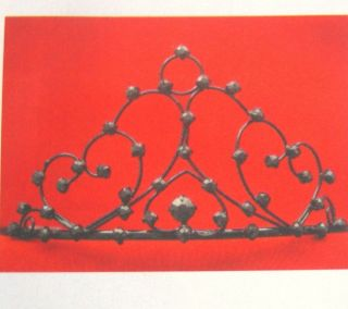 GOTHIC New Black Metal GOTH TIARA Crown Dark Queen Open Filigree