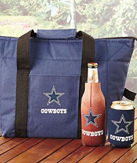 NFL Dallas Cowboys 3pc Insulator Cooler Bag Set w/bottle & can koolie
