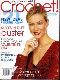CROCHET MAGAZINE JAN 2003 WINTER IDEAS