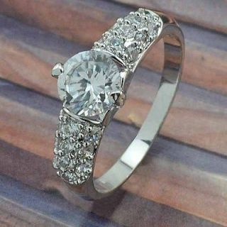cubic zirconia engagement ring white gold in Engagement & Wedding