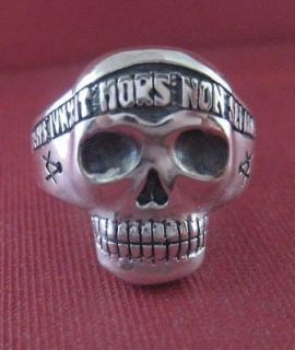 Sterling silver Skull Masonic ring   2403