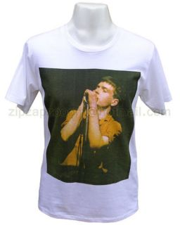 Mens Ian Curtis Tshirt Joy Division New Order Manga Rock Pop T shirt