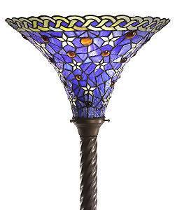 BEAUTIFUL TIFFANY STYLE BLUE STAR FLOOR LAMP LIGHT LIGHTS NEW